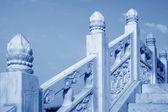 Stone bridge in blue sky background — Stock Photo