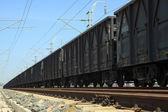 Train in the railroad — Stock fotografie