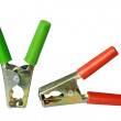 Stock Photo: Power cable clip