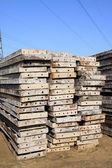 Construction metal templates — Stock Photo