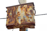 Old rusty meter box — Stock Photo