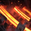 High temperature steel ingots — Stock Photo