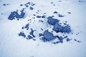 在中国北部雪的荒原 — 图库照片