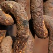 Rust iron chains — Stock Photo