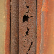 Stock Photo: Rusty iron plate