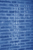 Arabic Numbers in the grey wall — Foto de Stock