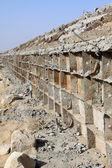Afvoer pijp bouwplaats — Stockfoto