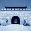 Stock Photo: China's ancient city wall features