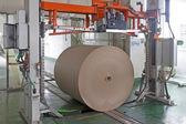 Linea di produzione di carta impresa — Foto Stock