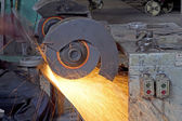 Grinding wheel and light — Foto Stock