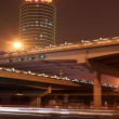 Night scene of the prosperous city, under the viaduct in beijing — Stock Photo #35519417