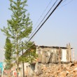 Stock Photo: Housing demolition materials