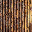 Stock Photo: Rusty waveform iron plate