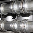 Stock Photo: Stainless steel mechanical components