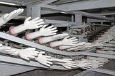 Acrylonitrile butadiene gloves production line — Стоковое фото