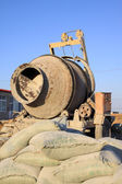 Concrete mixer at the construction site — Stock Photo