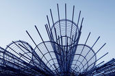 Steel rebar component in a construction site — Stock Photo
