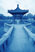 Pavilion in the park, city scenery — Stock Photo