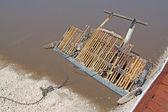 Salt collection equipment-salt rake — Stock Photo