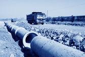 排水管工事現場 — ストック写真