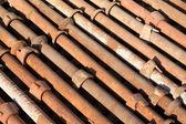 建設現場での鋼管コンポーネント — ストック写真