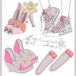 Fashion shoes set — Image vectorielle