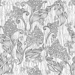 Abstract floral pattern. Seamless pattern with flowers — Image vectorielle