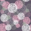 Abstract seamless polka dot circles pattern — Stok Vektör
