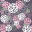 Abstract seamless polka dot circles pattern — Stock vektor