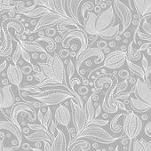 抽象的な花柄。花とのシームレスなパターン — ストックベクタ