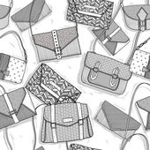 Fashion bags seamless pattern for girls — Stock Vector