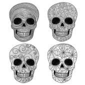 Zestaw czaszka ornament. — Wektor stockowy