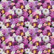 Abstracts seamless floral pattern. Background from various flowe — Stockfoto