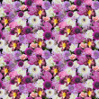 Abstracts seamless floral pattern. Background from various flowe — Stock Photo