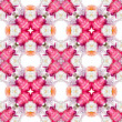 Abstract floral kaleidoscope seamless pattern — Stockfoto