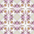 Abstract floral kaleidoscope seamless pattern — 图库照片