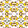 Abstract floral kaleidoscope seamless pattern — Stock fotografie