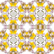 Abstract floral kaleidoscope seamless pattern — Stok fotoğraf