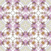 Abstract floral kaleidoscope seamless pattern — Stock Photo