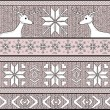 Hand drawn seamless knitted background in fair Isle style with d — Stok Vektör