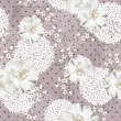 Seamless floral pattern. Background with flowers and leafs. — Vettoriali Stock