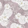 Seamless floral pattern. Background with flowers and leafs. — Image vectorielle