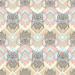 Cute owl seamless pattern with native elements — 图库矢量图片 #15325029