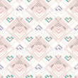 Abstract geometric seamless pattern. Aztec style pattern with hearts. Cute background for children or teenagers — 图库矢量图片