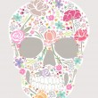 Skull from flowers - Stock Vector