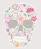 Skull from flowers — Stock Vector