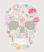 Skull from flowers — Stock Vector