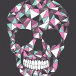 Skull with geometric pattern. — Stock vektor