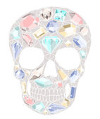 Skull with gemstones pattern — Stock Vector