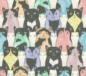 Seamless pattern with cute cats for children — Stock Vector